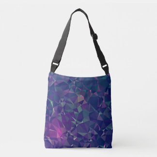 Elegant and Modern Geo Designs - Pink Periwinkle Crossbody Bag