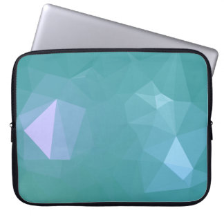 Elegant and Modern Geo Designs - Turquoise Shell Laptop Sleeve