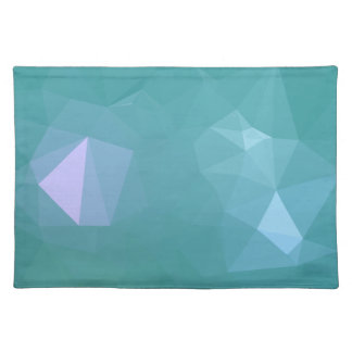 Elegant and Modern Geo Designs - Turquoise Shell Placemat