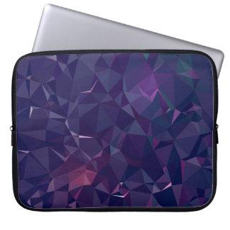 Elegant and Modern Geo Designs - Violet Amethyst Laptop Sleeve