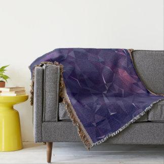 Elegant and Modern Geo Designs - Violet Amethyst Throw Blanket