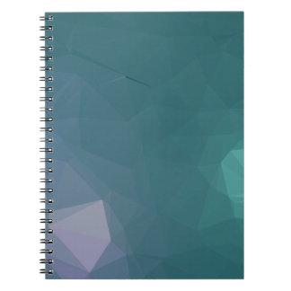 Elegant and Modern Geometric Art - Binary Stars Spiral Notebook