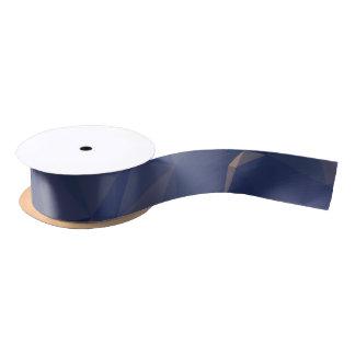 Elegant and Modern Geometric Art - Ocean Bronze Satin Ribbon