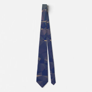 Elegant and Modern Geometric Art - Ocean Bronze Tie