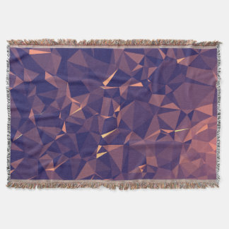 Elegant and Modern Geometric Art - Tropical Orchid Throw Blanket