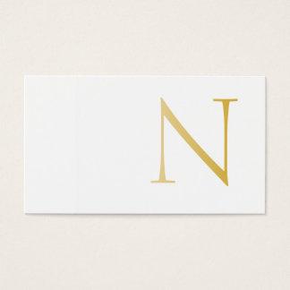 Elegant and Modern (Golden) Business Card