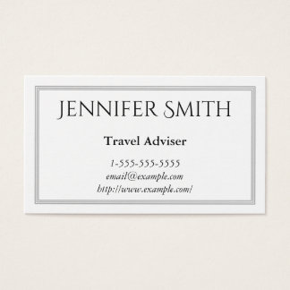 Elegant and Modern Travel Adviser Business Card