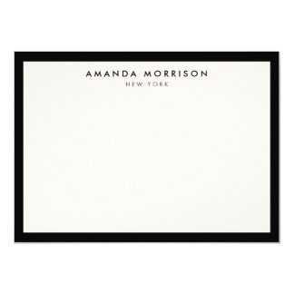 Elegant and Refined Luxury Black/Ivory Note Card