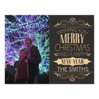 Elegant and Seasonal Merry Christmas for Photos 11 Cm X 14 Cm Invitation Card