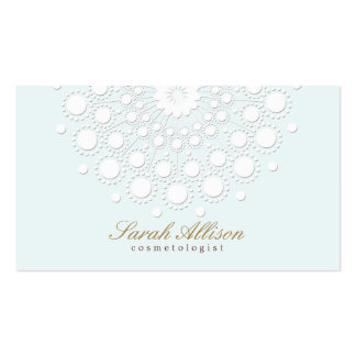Elegant and Simple Cosmetologist Light Blue Pack Of Standard Business Cards