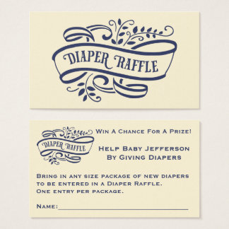 Elegant and Stylish Diaper Raffle Ticket