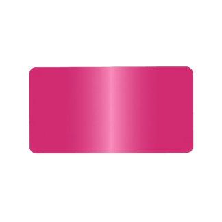 Elegant and stylish rose pink satin gradient blank label