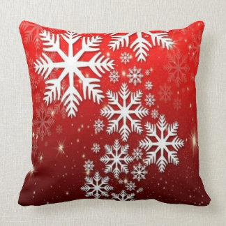 Elegant and Stylish snowflake pattern Christmas Throw Pillow