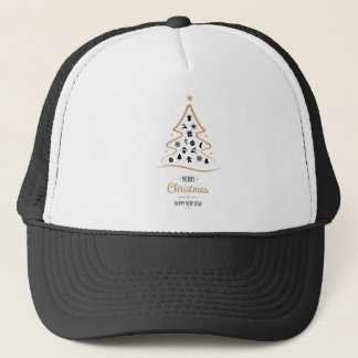 Elegant and Unique Christmas Tree Simple Trucker Hat