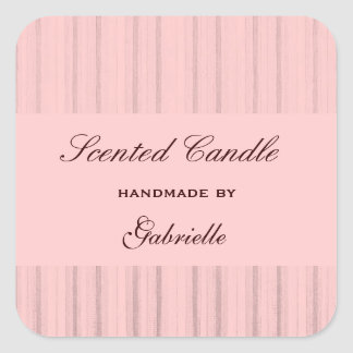 Elegant and wimsical pink stripe square sticker