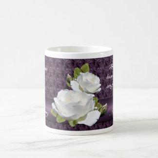 Elegant Anniversary White Roses Mug