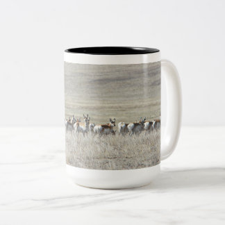 Elegant antelope Two-Tone coffee mug