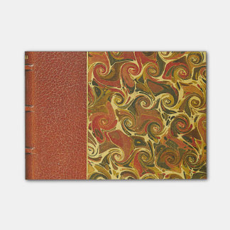 Elegant Antique Book, Ornate Swirl Pattern Post-it Notes
