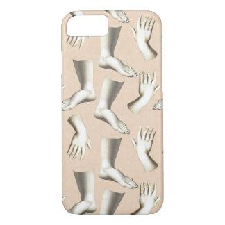Elegant Antique Engraving Hands Feet Massage iPhone 7 Case