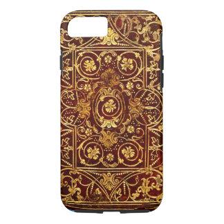 Elegant Antique Gilded Leather Book Cover