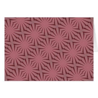 Elegant Antique Pink Kaleidoscope Design Card