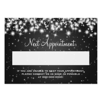 Elegant Appointment Card Winter Sparkle Black Pack Of Chubby Business Cards