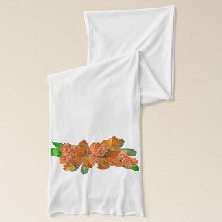 Elegant apricot roses scarf