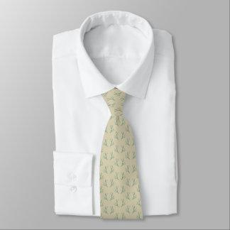 Elegant Aqua Antlers on Beige Tie