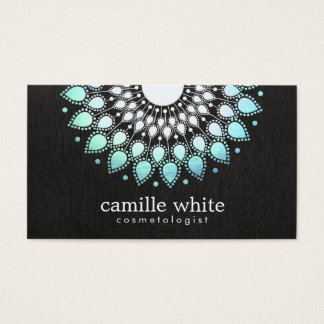Elegant Aqua Blue Lotus FLower Natural Beauty Business Card