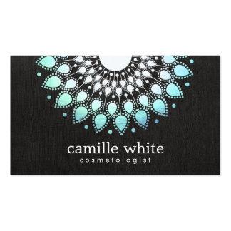 Elegant Aqua Blue Lotus FLower Natural Beauty Pack Of Standard Business Cards
