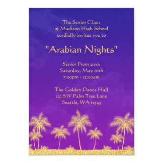 Elegant Arabian Nights Prom Formal Invitation