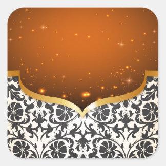 Elegant Arabian Square Sticker