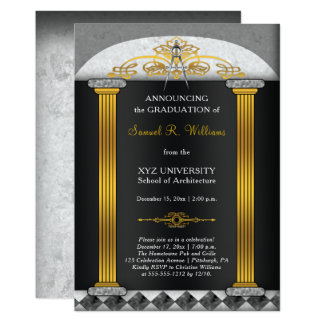 Elegant Architect Architecture Compass Graduation Card
