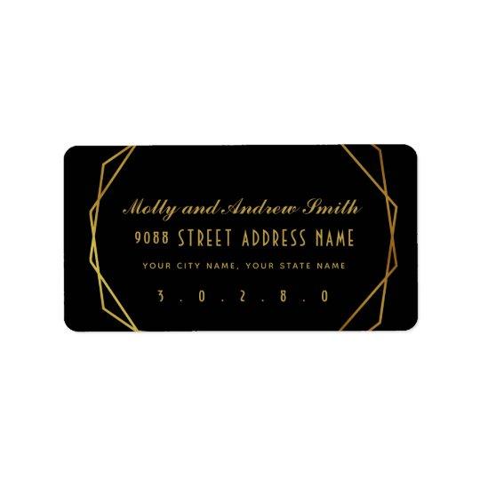 Elegant art deco address label party/wedding