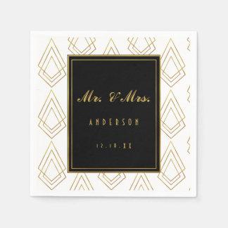 Elegant art deco wedding napkin wedding disposable napkin