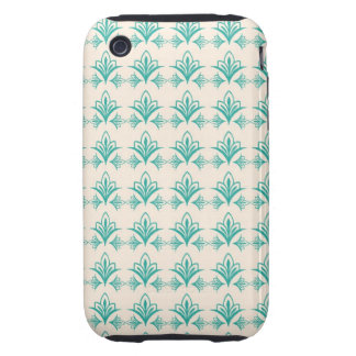 Elegant Art Nouveau Abstract Floral iPhone 3 Tough Covers