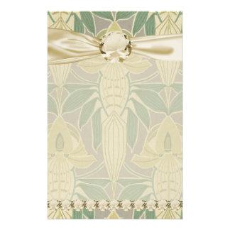 elegant art nouveau flora vintage art stationery paper