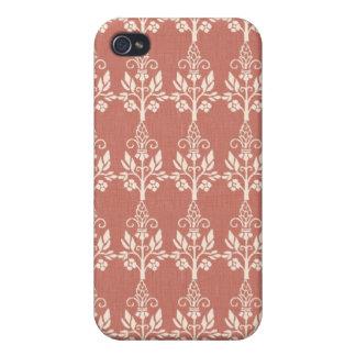 Elegant Art Nouveau Floral iPhone 4 Cover