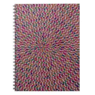 Elegant Artist created Energy Texture GOODLUCK fun Spiral Note Books