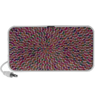 Elegant Artist created Energy Texture GOODLUCK fun Portable Speakers