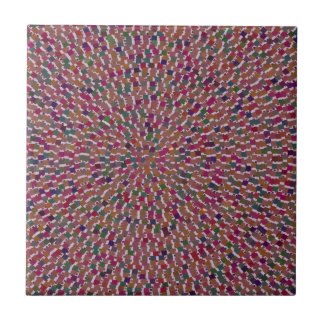 Elegant Artist created Energy Texture GOODLUCK fun Ceramic Tiles