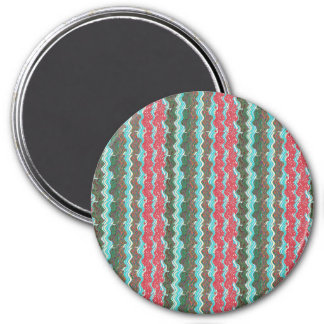 Elegant Artistic Waves Pattern Texture on Gifts 99 7.5 Cm Round Magnet