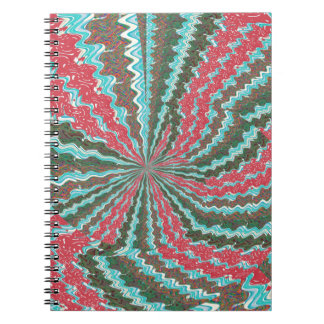 Elegant Artistic Waves Pattern Texture on Gifts 99 Spiral Notebooks