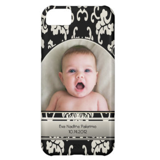Elegant Asian Floral Damask Personalized Photo iPhone 5C Case