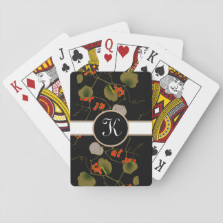 Elegant Asian Floral Playing Cards