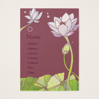 Elegant Asian Lotus Yoga or Spa Business Cards