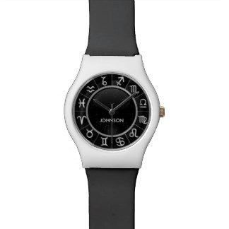 Elegant Astrology Signs - 12 Zodiac Symbols Wristwatches