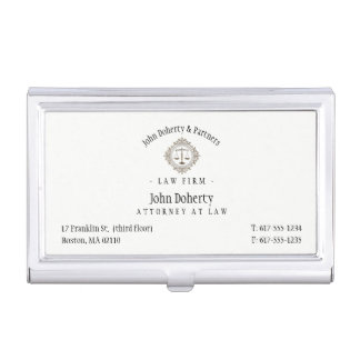 Elegant Attorney at Law | Law Firm Business Card Cases