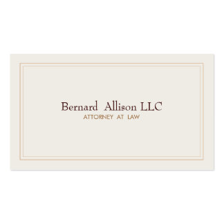 Elegant Attorney Ivory Professional Traditional Double-Sided Standard Business Cards (Pack Of 100)