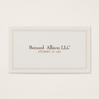 Elegant Attorney Ivory Professional Traditional Business Card